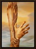Saving Grace Framed Canvas Print by Garret Walker