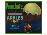 Parachute Apple Crate Label - Los Angeles, CA Pósters por  Lantern Press