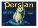 Persian Pear Crate Label - Yakima, WA Poster von  Lantern Press