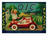 O.I.C. Lemon Label - Corona, CA Julisteet tekijänä  Lantern Press
