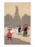 Place de la Republique Art Deco Scene - Paris, France Poster di  Lantern Press