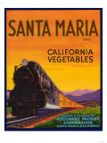 Santa Maria Vegetable Label - Santa Maria, CA Póster por  Lantern Press