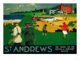 St. Andrews Vintage Poster - Europe Poster af  Lantern Press
