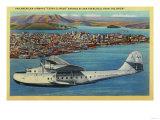 """Pan American Airways """"China Clipper"""" from Orient - San Francisco, CA Kunstdrucke von  Lantern Press"""