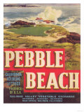 Pebble Beach Lettuce Label - Salinas, CA Kunst von  Lantern Press