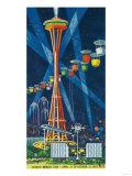 Space Needle Worlds Fair Poster - Seattle, WA Kunst von  Lantern Press