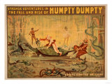 The fall and rise of Humpty Dumpty Theatre Poster Poster by  Lantern Press