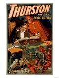 Thurston the Great Magician with Devil Magic Poster Kunstdrucke von  Lantern Press