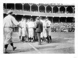 On-Field Dispute, Chicago Cubs vs. NY Giants, Baseball Photo - New York, NY Plakater av  Lantern Press