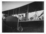 Katharine Wright with Orville in Model HS Plane Photograph - Kitty Hawk, NC Láminas por  Lantern Press