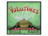 Volutines Perfume Label - Paris, France Affischer av  Lantern Press