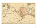 Alaska - Panoramic State Map Posters av  Lantern Press
