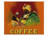 Arab Man Coffee Label Arte por  Lantern Press