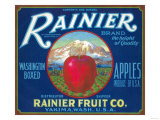 Rainier Apple Label - Yakima, WA Láminas por  Lantern Press