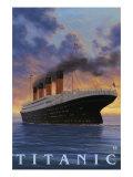 Titanic Scene - White Star Line Plakater af  Lantern Press