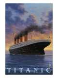 Titanic Scene - White Star Line Poster von  Lantern Press
