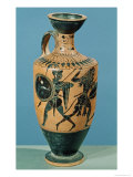Attic Style Lekythos, Depicting Hercules and the Amazons Giclée-tryk