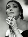 Maria Callas as Floria in Tosca, the Most Renowned Opera Singer of the 1950s Fotografie-Druck von Houston Rogers