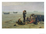 Waiting For the Fish, Berck-Sur-Mer Giclee Print by Charles Emmanuel Joseph Roussel