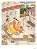 Krishna and Radha on a Bed in a Mogul Palace, Punjab, c.1860 Lámina giclée