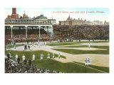 Ancien terrain de baseball de Chicago Posters