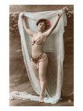 Danzatrice del ventre con drappo Stampe