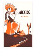 メキシコには鉄道で, ギターを持ったセニョリータ ポスター
