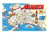 Map of Alaska Kunst
