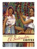 El Salvador Coffee, Pickers Premium Giclee Print