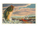 Landing Giant Fish Giclée-Premiumdruck