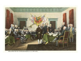 Painting, Declaration of Independence, Capitol Poster