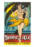 Tropical Girl Pin Up Poster