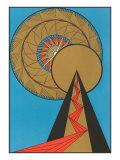 Geometric Art Deco Poster