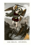 St. Michael the Archangel Fighting Dragon Print
