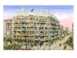 Gaudi's Casa Mila, Barcelona Posters