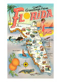Mappa della Florida Poster