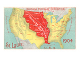 Louisiana Purchase, St. Louis, Missouri Giclée-Premiumdruck