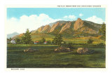 Flat Irons, Boulder, Colorado Kunstdrucke
