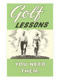 Leçons de golf - Vous en avez besoin Affiches