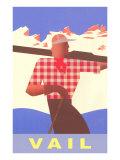Skiing, Vail, Colorado Affischer