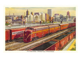 Rail Yards and Skyline, Pittsburgh, Pennsylvania Posters