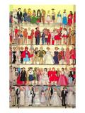 Barbie Doll Collection, Retro Kunstdrucke