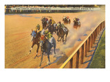 Horse Racing, Saratoga Springs, New York Prints