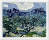 Landscape with Olive Trees Framed Canvas Print by Vincent van Gogh