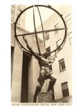 Standbeeld van Atlas bij Rockefeller Center, New York Kunst