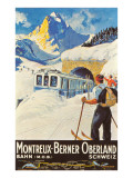 Montreux Ski Poster Poster