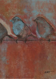 Row of Sparrows I Posters par Norman Wyatt Jr.