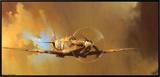Spitfire Impressão em tela emoldurada por Barrie Clark