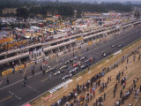 Starting Grid of the 1967 French Grand Prix at Le Mans Lámina fotográfica