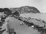 The Seaside Resort of Minehead in Somerset, England, 1930's Fotografie-Druck